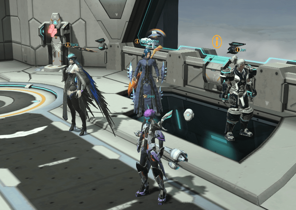 phantasy star online 2 tips - how to recruit npcs to your party