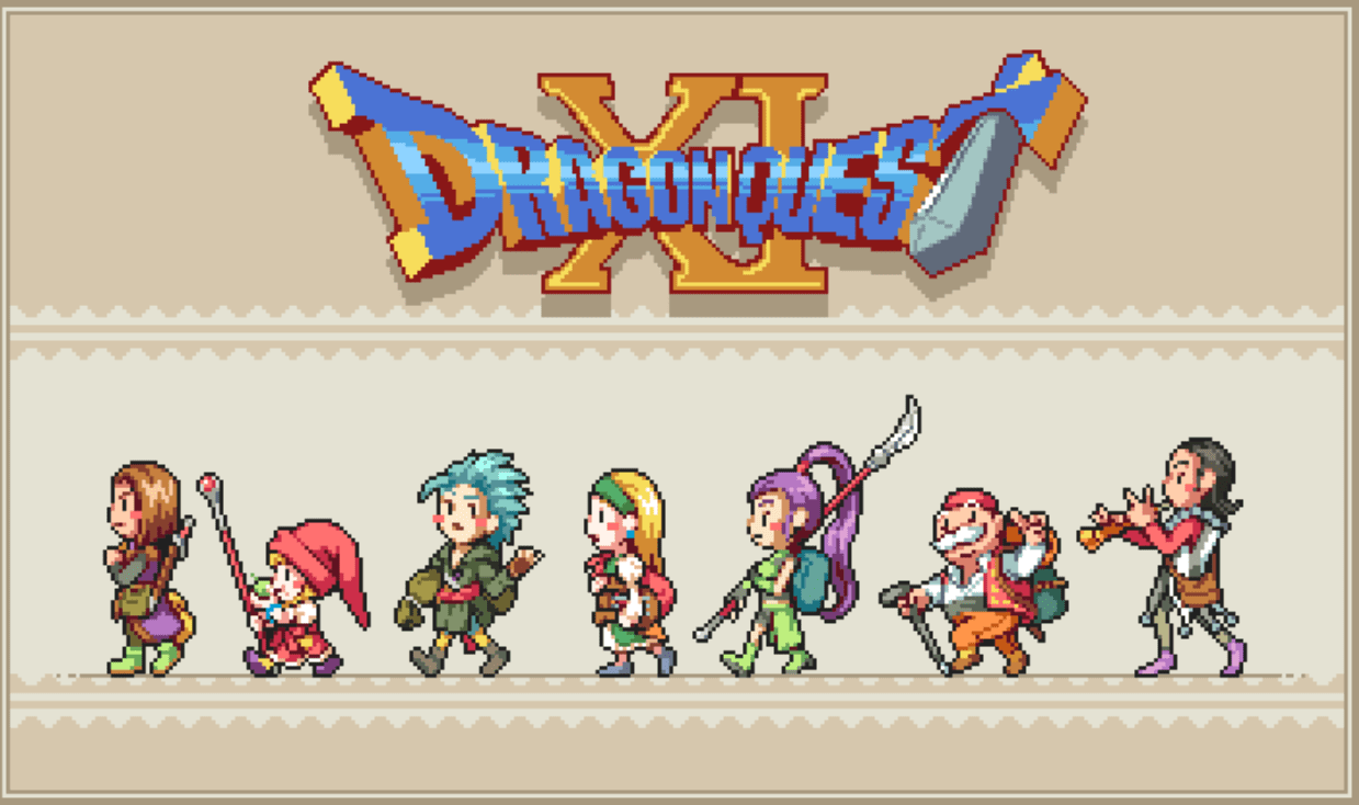 dragon quest characters pixel art by dewdneym