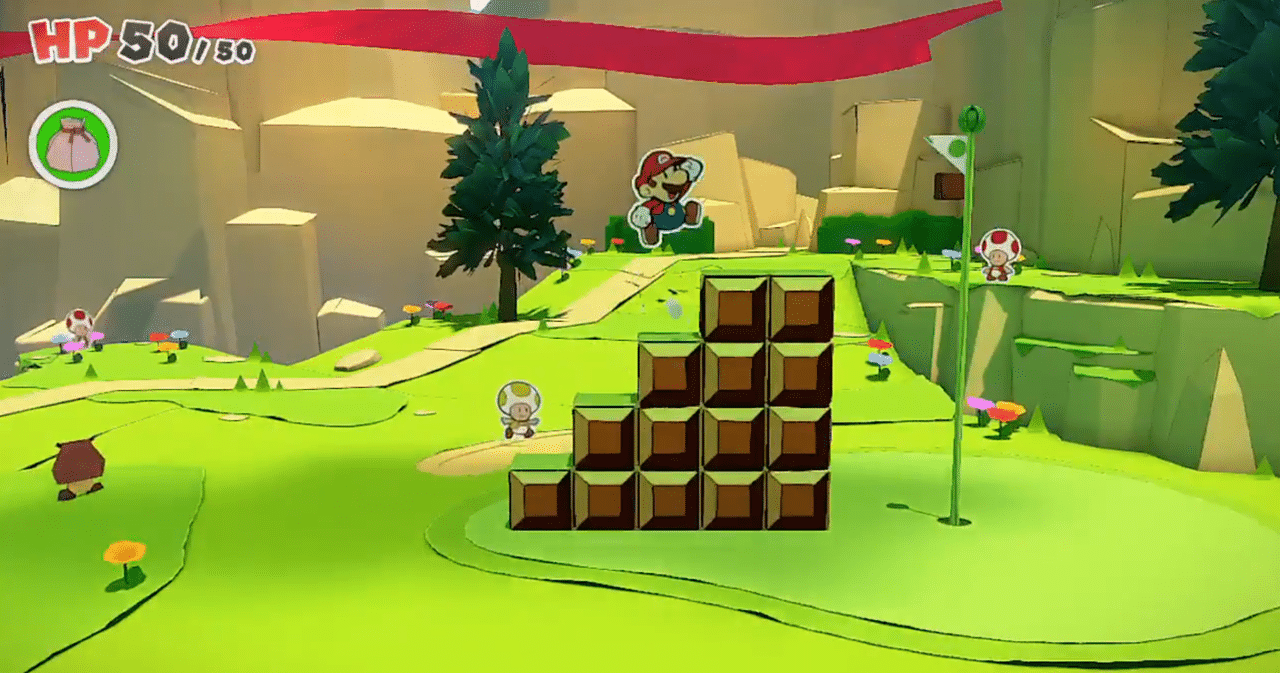 paper mario stairs to flag