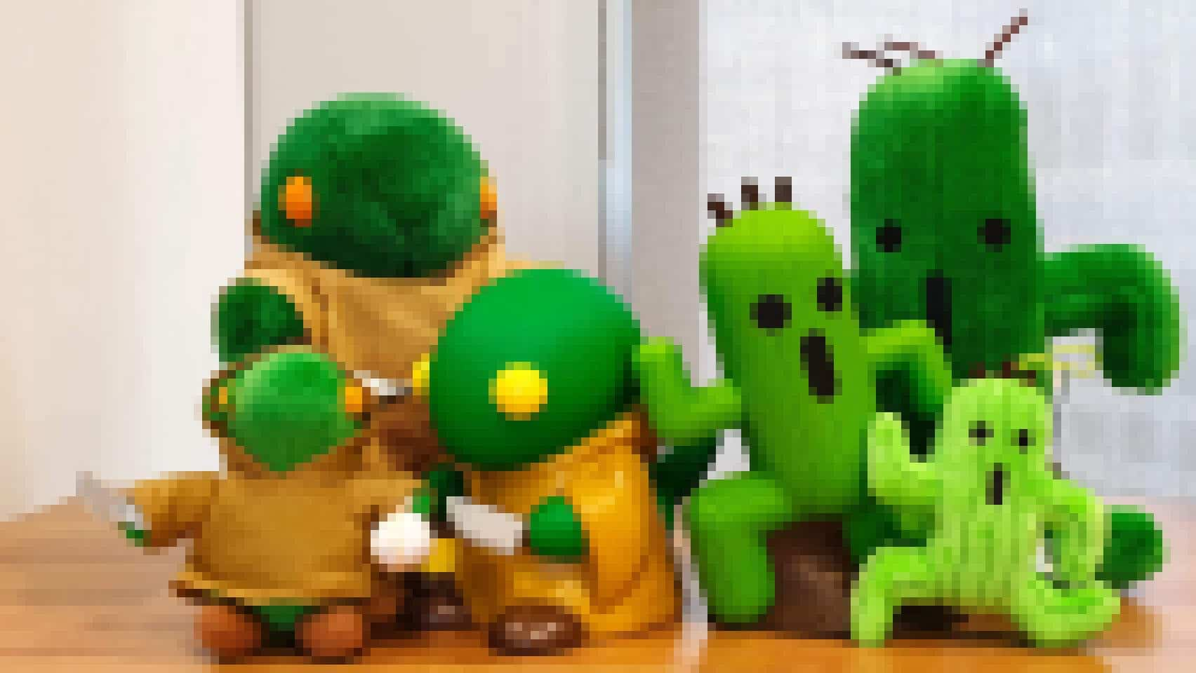 tonberry and cactuar pixels
