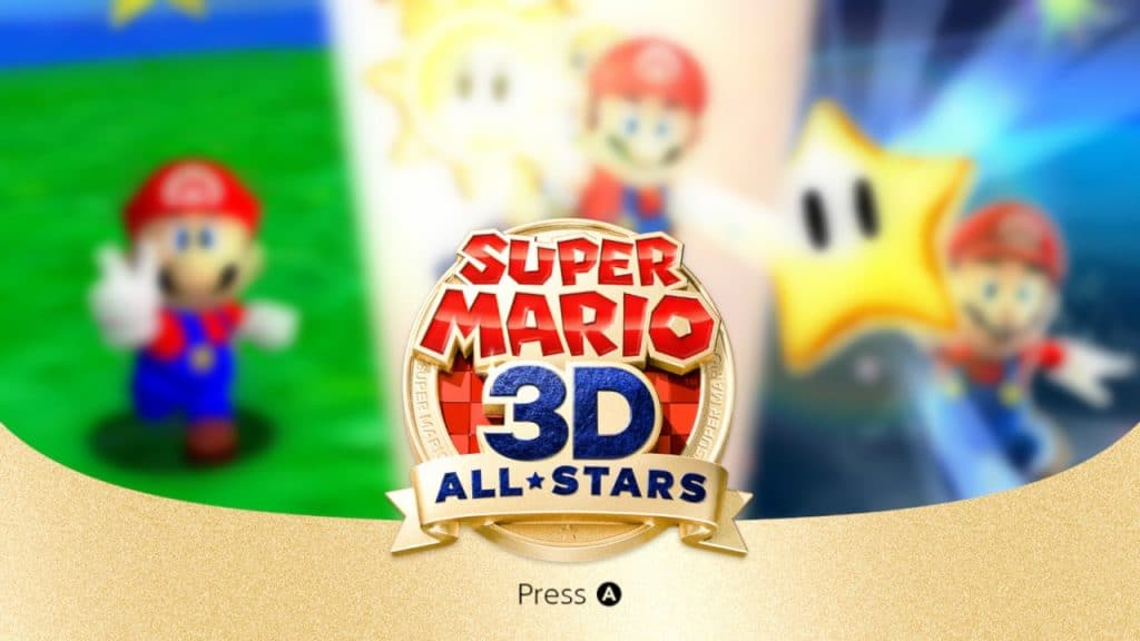 The super mario 3d all-stars title screen is a thing of beauty