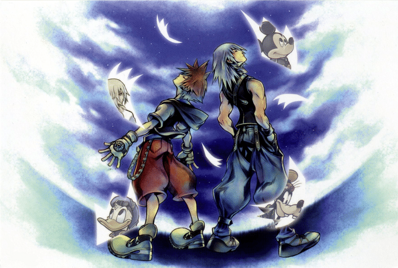 Kingdom Hearts re chain of memories art