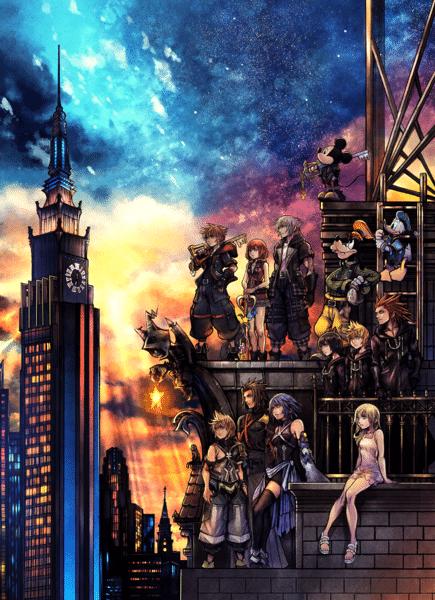 kingdom hearts 3 cover art