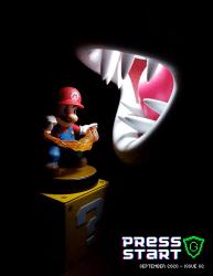 press start video game magazine
