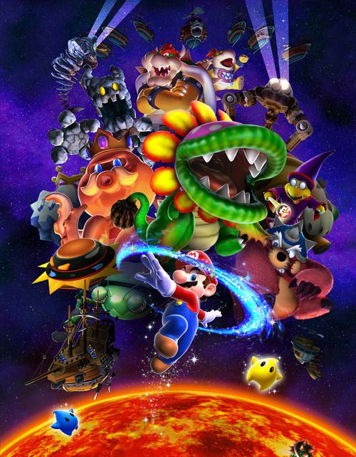 Mario Galaxy Promo Art