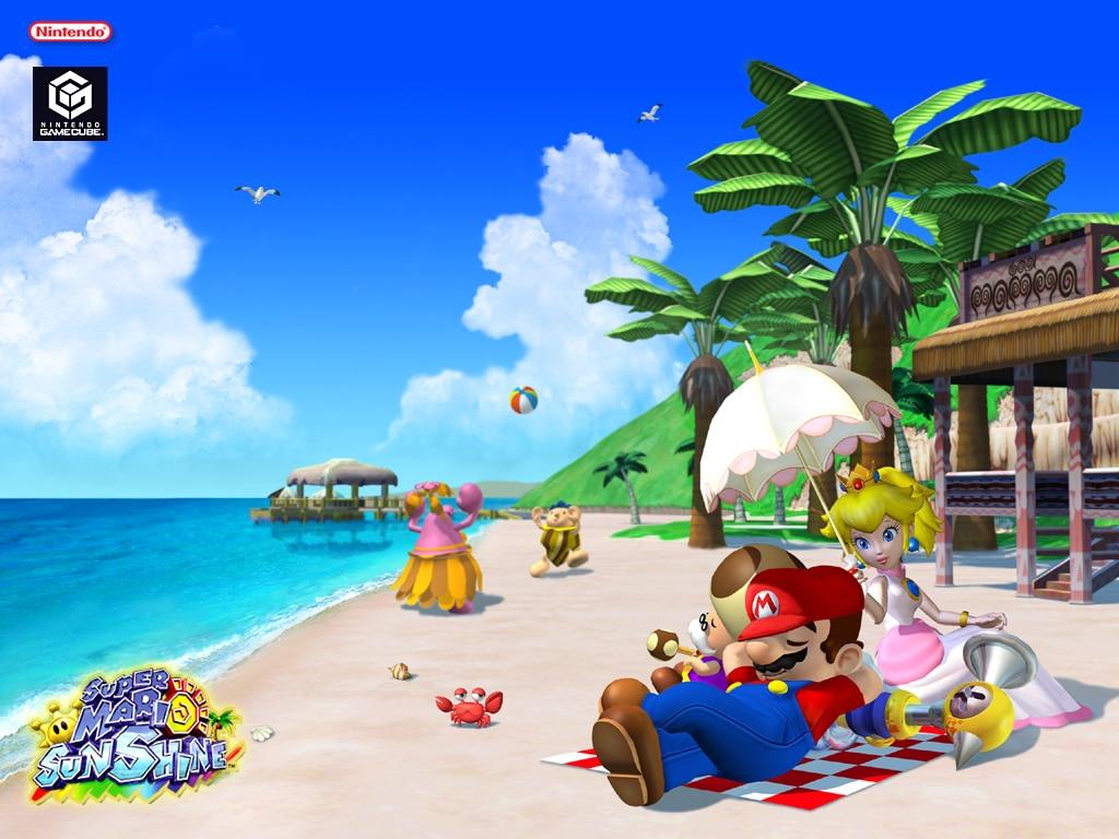 Super Mario Sunshine promo art