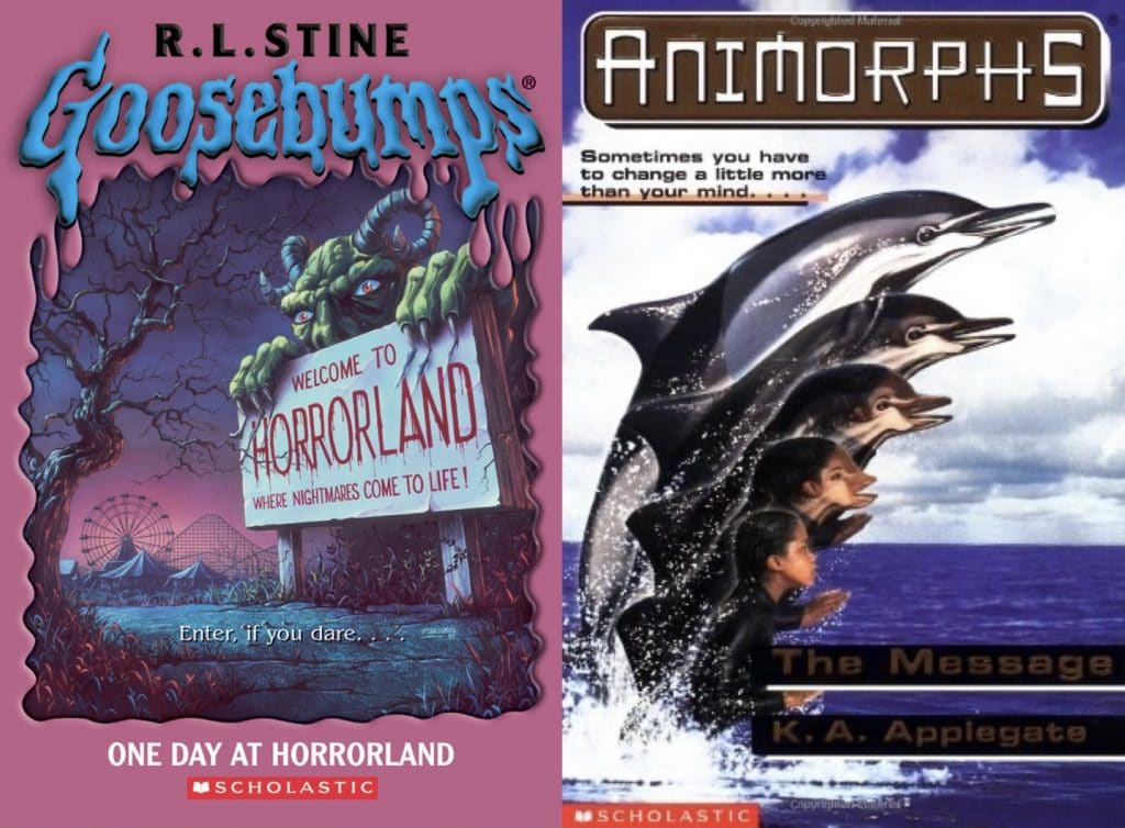 goosebumps one night at horrorland animorphs the message