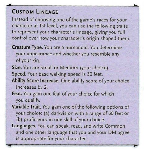 Tasha's Cauldron of Everything has D&D races with Custom Lineages