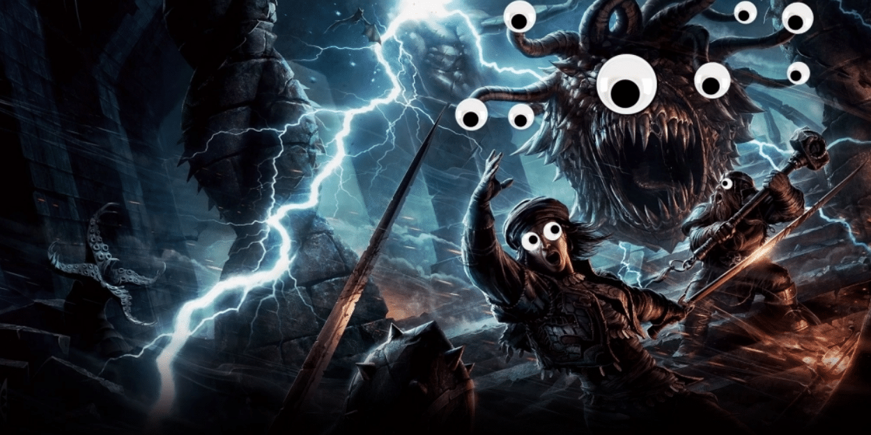 beholder from dnd with googly eyes ahhhh