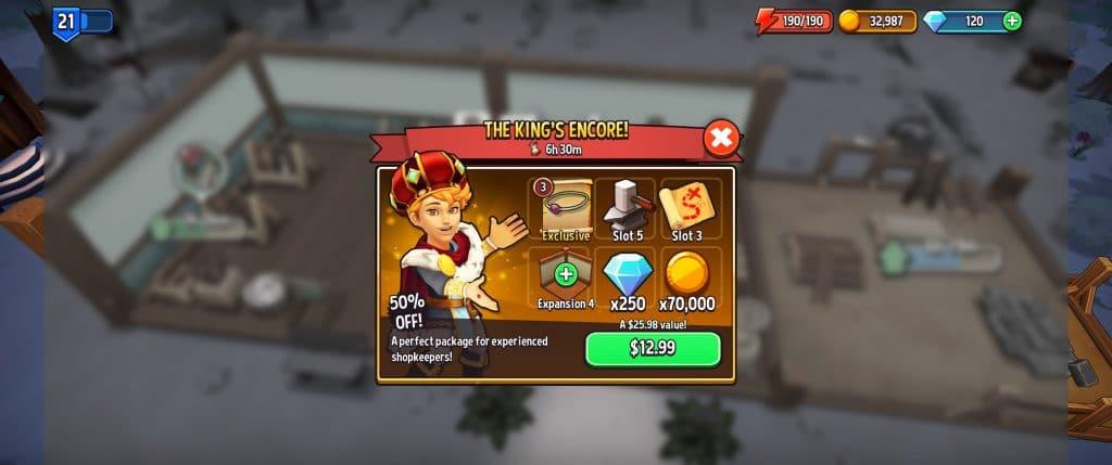 Shop Titans Spending Money Options