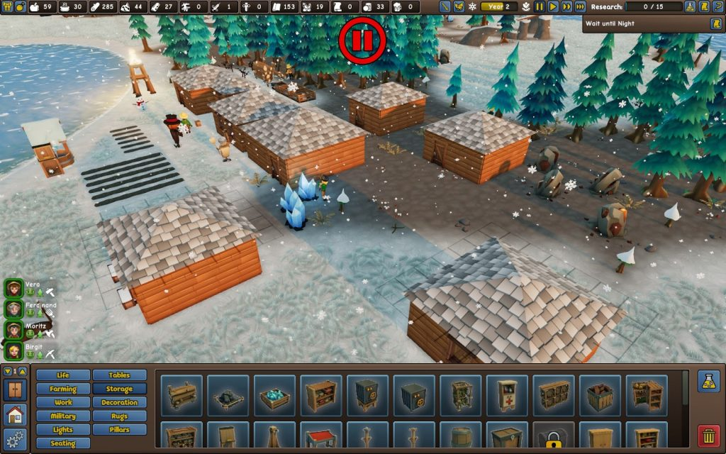 Screenshot of winter in Founders' Fortune