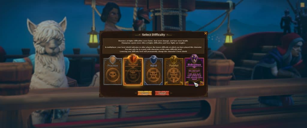 Difficulty Levels in Torchlight 3