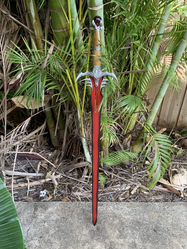 red dragon battle sword