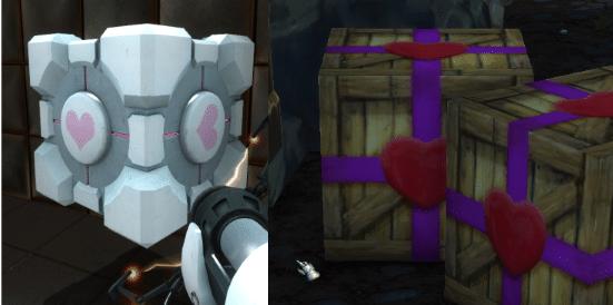 Portal Companion Cube vs WoW decorations