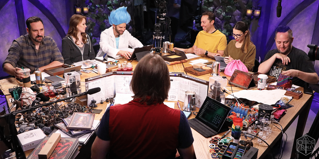 critical role cast playing the most well-known of tabletop rpgs, d&d