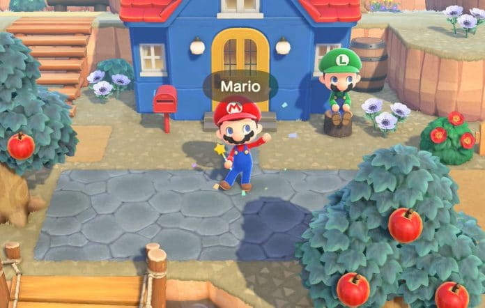 Mario outfit in Animal Crossing New Horizons