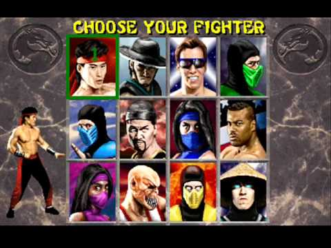 Choose Your Fighter Screen with all character images