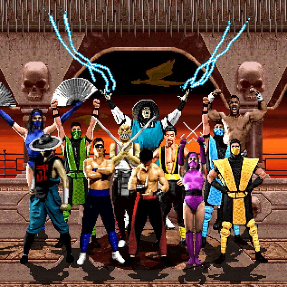 Picture of multiple Mortal Kombat characters