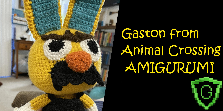 How to make a Crochet Amigurumi Gaston from Animal Crossing!
