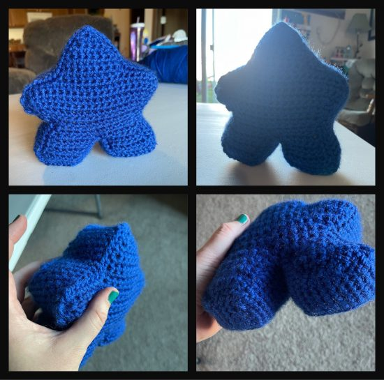 collage of blue meeple pictures