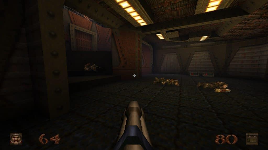 Enemy bodies strewn on the floor
