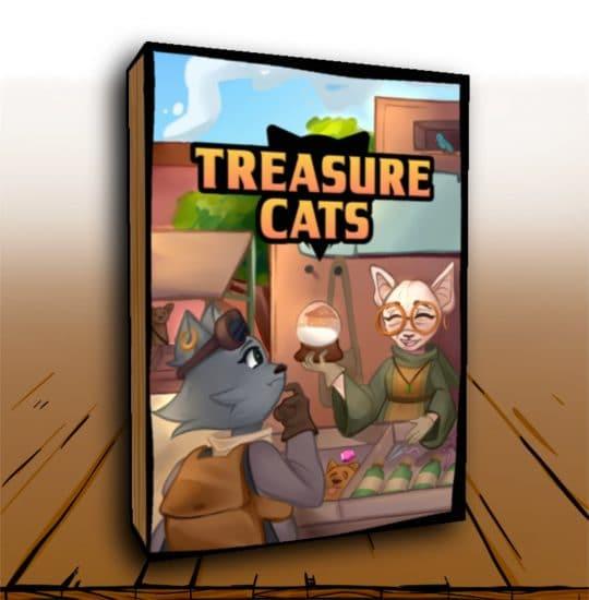 The box for Treasure Cats