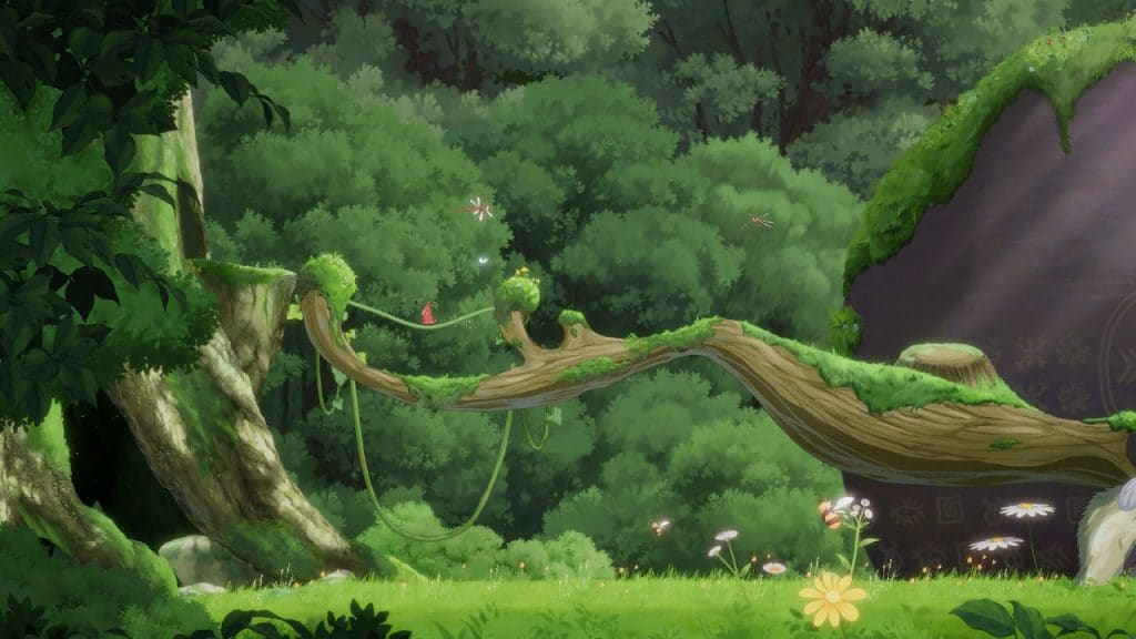 Screenshot of the forest in Hoa