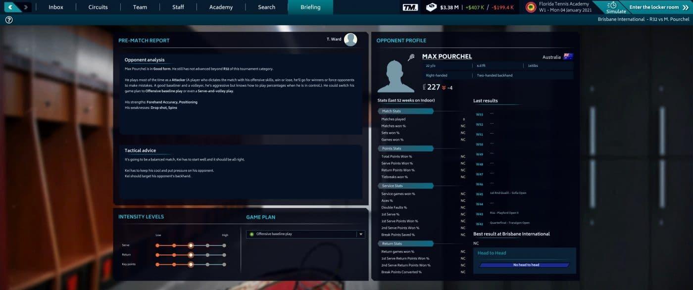 A Pre match report